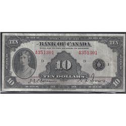 Bank of Canada BC-7 1935 $10 VF/EF