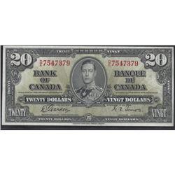 Bank of Canada BC-25b 1937 $20 AU