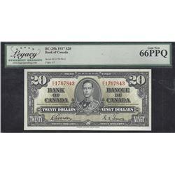 Bank of Canada BC-25b 1937 $20 LEGACY GEM66PPQ