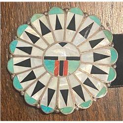 1950's Zuni Sunface Concho Belt attributed to Marie Qualo, Zuni Artist