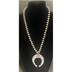 Jim Redfeather Naja and Pearl Necklace