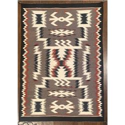 40-inch by 28-inch Beautiful Navajo Storm Pattern Weaving