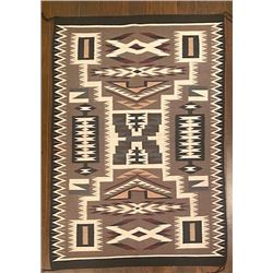 Navajo Storm Pattern Rug by Sally Yazzie.  Looks Bigger than the 52-inches by 36-inches that it is.