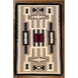 Navajo Storm Pattern Weaving by Lucille Begay