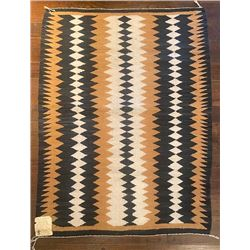 Vintage Navajo Floor Rug 53-inches by 37.5-inches