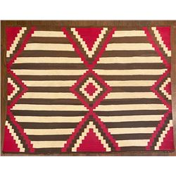 Vintage Navajo Chief's Blanket 60-inches by 48-inches.