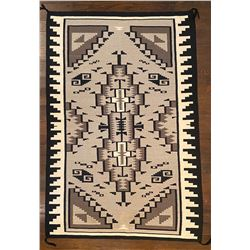 Large Two Grey Hills Rug 79-inches by 52 ½-inches.