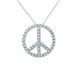 0.67 CTW Diamond Necklace 14K White Gold - REF-48K3W