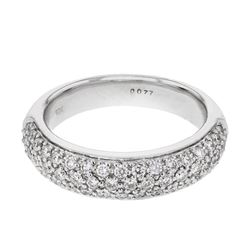 0.77 CTW Diamond Ring 18K White Gold - REF-97K6W