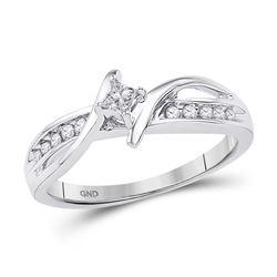 1/5 CTW Princess Diamond Solitaire Bridal Wedding Engagement Ring 10kt White Gold - REF-25H3R