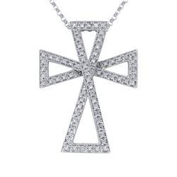 0.28 CTW Diamond Necklace 14K White Gold - REF-45F8N