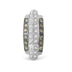 0.48 CTW White & Brown Diamond Necklace 14K White Gold - REF-39K3W