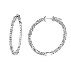 0.96 CTW Diamond Earrings 14K White Gold - REF-122Y6X