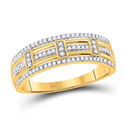 1/5 CTW Womens Round Diamond Band Ring 10kt Yellow Gold - REF-19T2V