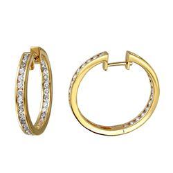 2.28 CTW Diamond Earrings 14K Yellow Gold - REF-205Y3X
