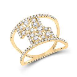 5/8 CTW Womens Round Diamond Fashion Ring 14kt Yellow Gold - REF-61H4R