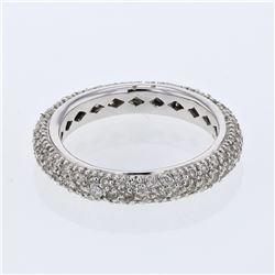 1.25 CTW Diamond Ring 14K White Gold - REF-70X2R