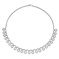 5.03 CTW Diamond Necklace 14K White Gold - REF-308H7M