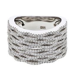 1.18 CTW Diamond Ring 14K White Gold - REF-131R8K