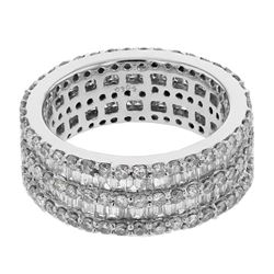 1.99 CTW Diamond Ring 18K White Gold - REF-194Y2X