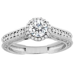 0.64 CTW Diamond Ring 14K White Gold - REF-111N5Y