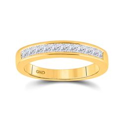 1/2 CTW Womens Princess Diamond Wedding Band Ring 14kt Yellow Gold - REF-53X3T