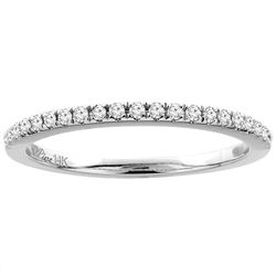 0.15 CTW Diamond Ring 14K White Gold - REF-33F5N