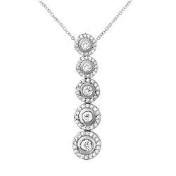 1 CTW Diamond Necklace 14K White Gold - REF-108W5H