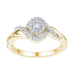 1/5 CTW Round Diamond Solitaire Bridal Wedding Engagement Ring 10kt Yellow Gold - REF-23R3X