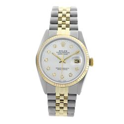 Rolex Pre-owned 36mm Mens White Two Tone