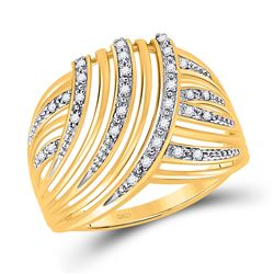 1/10 CTW Womens Round Diamond Fashion Ring 10kt Yellow Gold - REF-20F5W