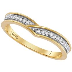 1/20 CTW Womens Round Diamond Band Ring 10kt Yellow Gold - REF-13T2V