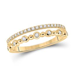 1/5 CTW Womens Round Diamond Band Ring 10kt Yellow Gold - REF-23V3Y
