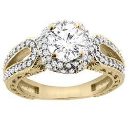 1.24 CTW Diamond Ring 14K Yellow Gold - REF-238F7N