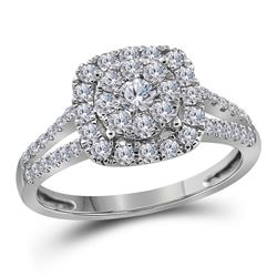 3/4 CTW Round Diamond Solitaire Bridal Wedding Engagement Ring 14kt White Gold - REF-68V2Y