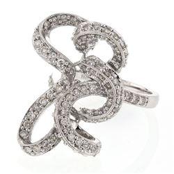 1.21 CTW Diamond Ring 14K White Gold - REF-90N6Y
