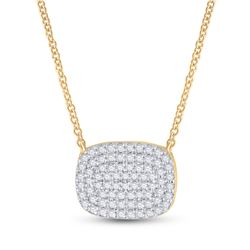 1/5 CTW Womens Round Diamond Fashion Necklace 10kt Yellow Gold - REF-24R5X