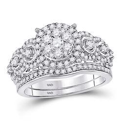 1 CTW Round Diamond Bridal Wedding Ring 14kt Rose Gold - REF-122H6R
