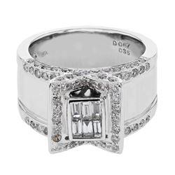 1.02 CTW Diamond Ring 18K White Gold - REF-194K6W