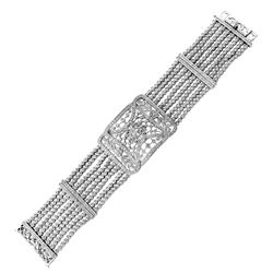 3.34 CTW Diamond Bracelet 18K White Gold - REF-553Y6X