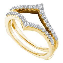 1/2 CTW Womens Round Diamond Ring 14kt Yellow Gold - REF-55V3Y