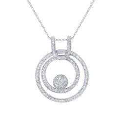 1.31 CTW Diamond Necklace 14K White Gold - REF-93H8M