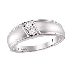 1/5 CTW Womens Round Diamond Band Ring 10kt White Gold - REF-38Y2N