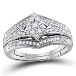 1/2 CTW Round Diamond Bridal Wedding Ring 10kt Yellow Gold - REF-54R5X