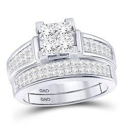 2 CTW Princess Diamond Bridal Wedding Ring 14kt White Gold - REF-231W7H