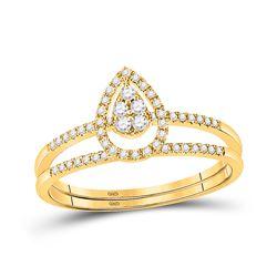 1/5 CTW Round Diamond Bridal Wedding Ring 14kt Yellow Gold - REF-30R7X