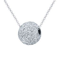 1 CTW Diamond Pendant 14K White Gold - REF-74H3M