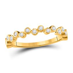 1/4 CTW Womens Round Diamond Stackable Band Ring 10kt Yellow Gold - REF-20R5X