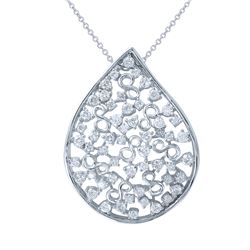 1.16 CTW Diamond Necklace 18K White Gold - REF-140K8W