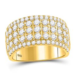 2 CTW Womens Round Diamond Band Ring 10kt Yellow Gold - REF-177V3Y